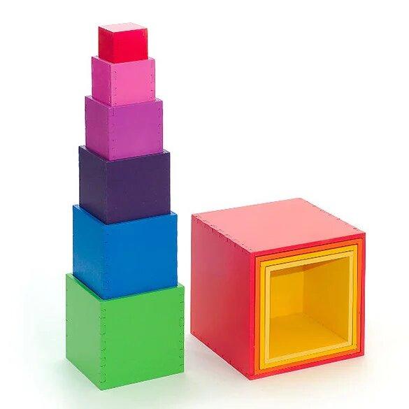«Куб-матрешка» 10 в одном - разноцветная 1
